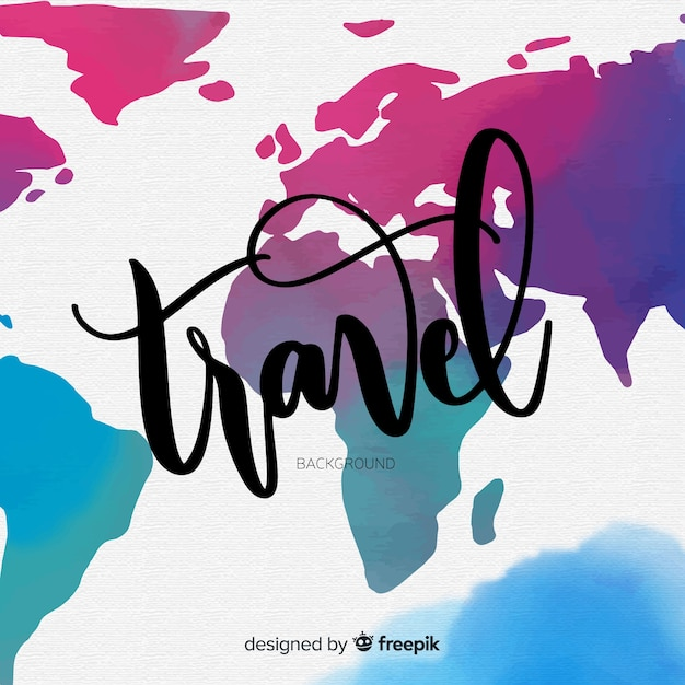 lettering map background free vector