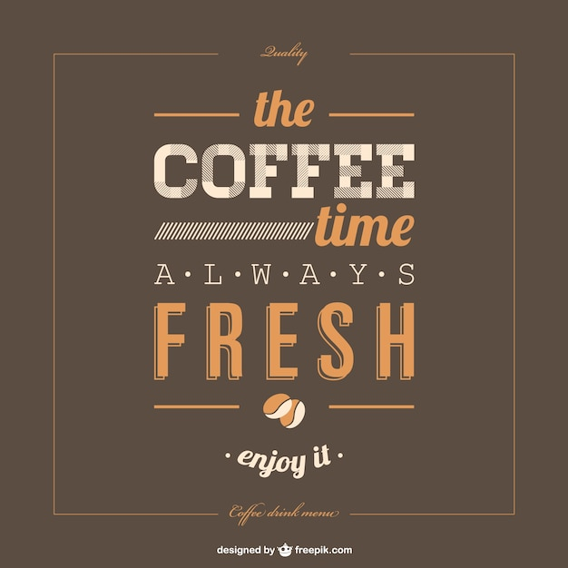 lettering poster coffee template free vector