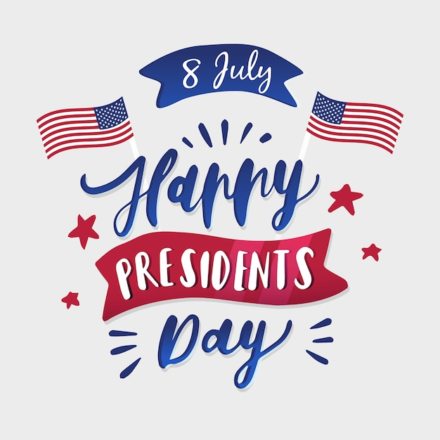 Lettering presidents day Free Vector