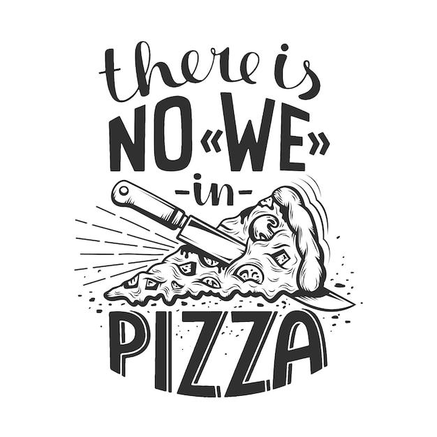 Надпись цитатой пиццы Premium векторы