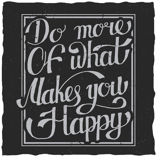 手描きのレタリング引用ポスターはあなたを幸せにすることの多くを行います 無料ベクター