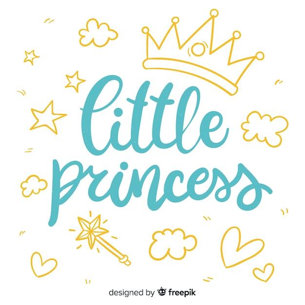 Надпись цитатой в стиле принцессы Premium векторы