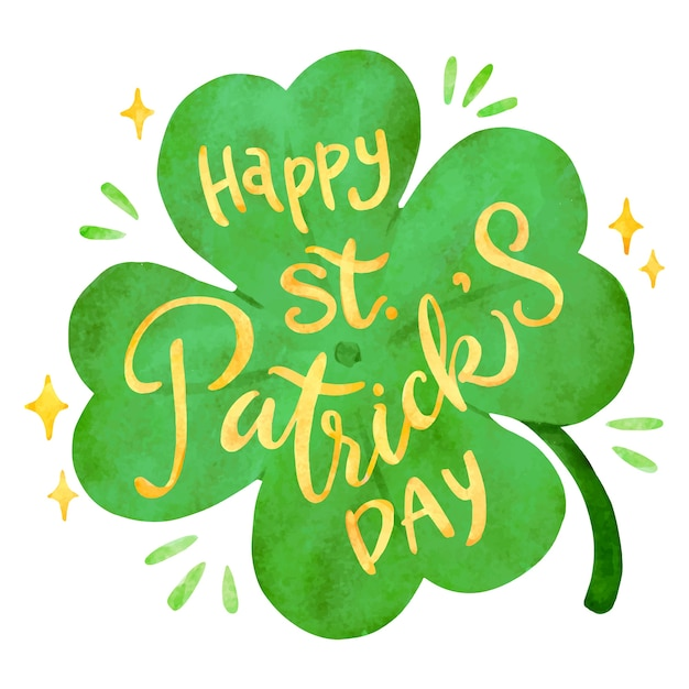 Lettering saint patrick's day Free Vector