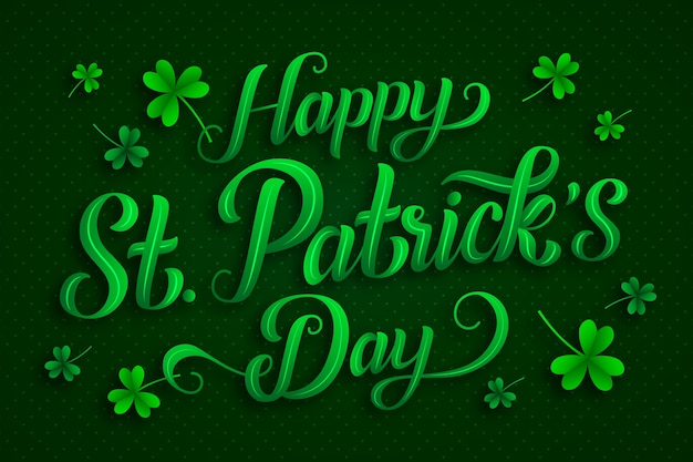 Lettering st. patrick's day Free Vector