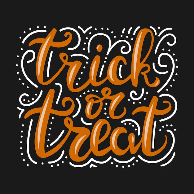 Lettering trick or treat. Premium Vector