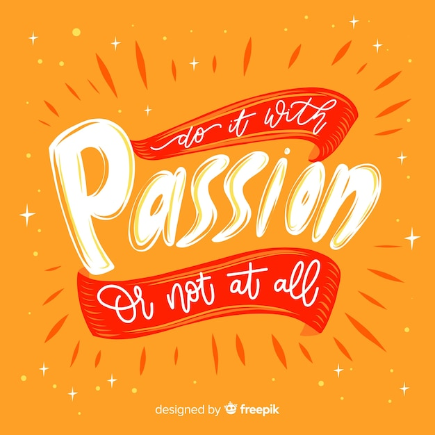 Lettering with quote for creativity Free Vector