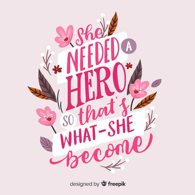 Lettering women's day Free Vector