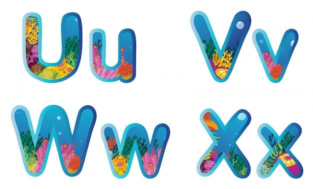 Letters Premium Vector