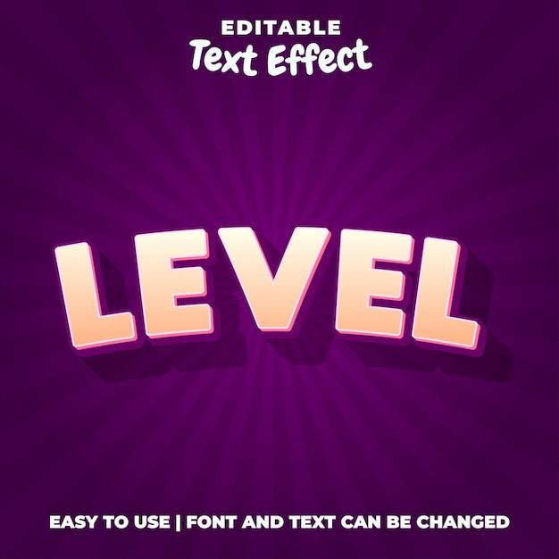 Стиль текстового эффекта уровня 3d Premium векторы