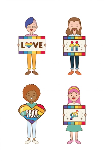 Lgbt people Free Vector