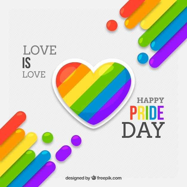 Lgbt pride background with herat Free Vector