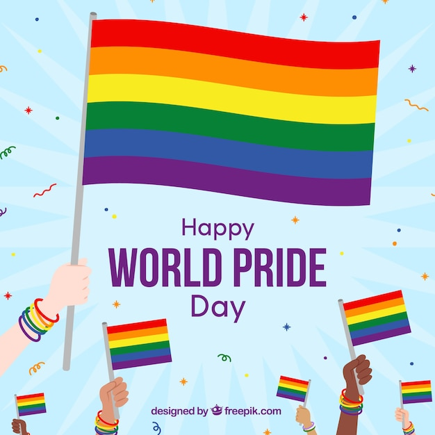 Lgbt pride background with many colors Vector   Free Download