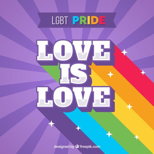 Lgbt pride background Free Vector