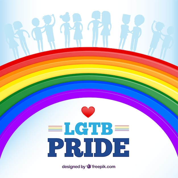 Lgtb pride background with rainbow colors Free Vector
