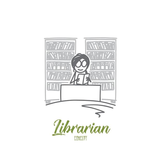 Librarian concept illustration Premium Vector