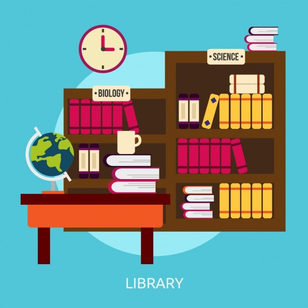 Library Background Design Vector Free Download