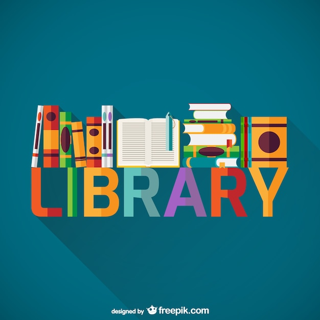 Library bookshelf Free Vector