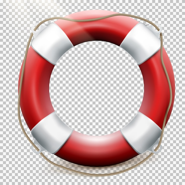 Life buoy  on transparent. Premium Vector