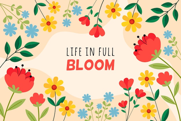 Life in full bloom background Free Vector