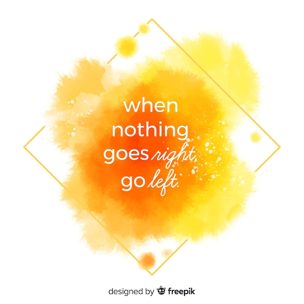 Life quote with watercolor lettering Free Vector