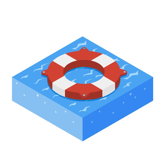 Lifebouy icon isometric Premium Vector