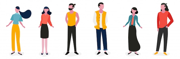 Lifestyle people character illustration design Premium Vector