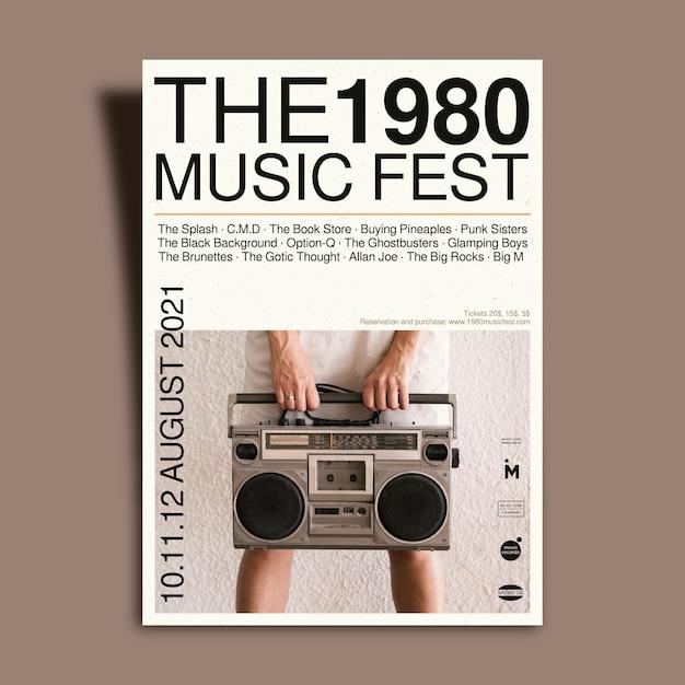 Locandina dell'evento musicale light 2021 Vettore gratuito
