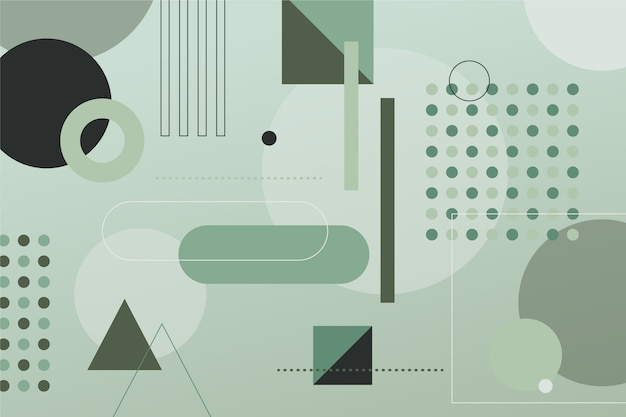 Light background with different green shapes Free Vector
