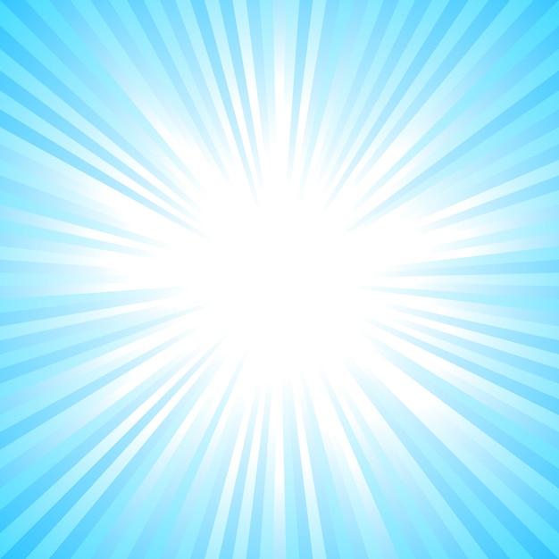 Light blue abstract sun burst background Premium Vector