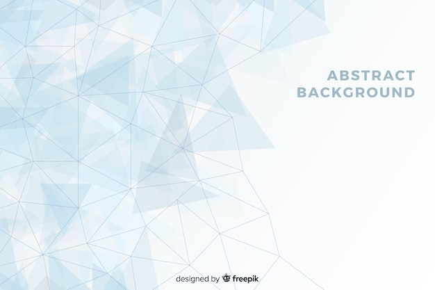 水色と白の幾何学的図形の背景 Premiumベクター