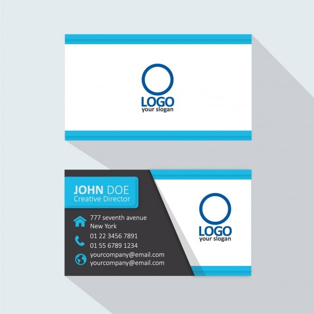 Light blue business card Vector | Free Download