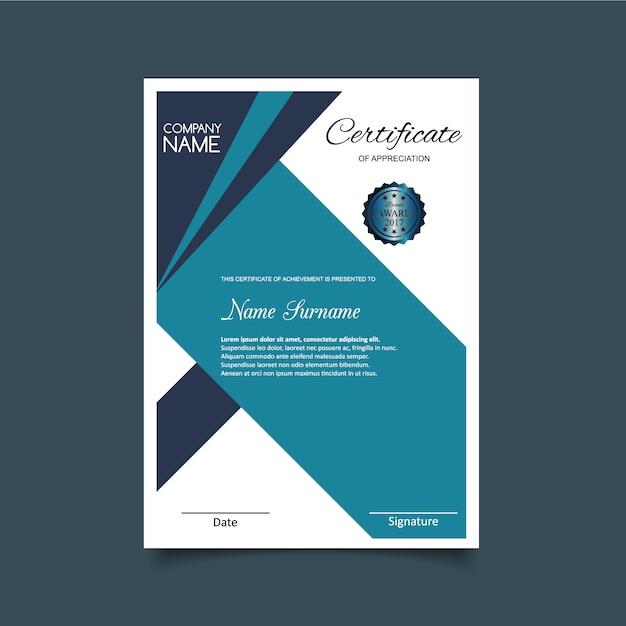 Light blue certificate of appreciation template vector free download light blue certificate of appreciation template free vector yelopaper Gallery