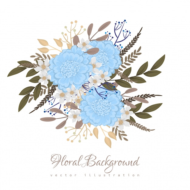 Light blue clipart flower Free Vector
