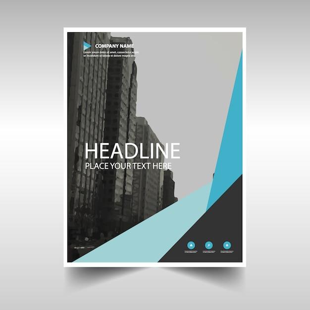 Download Vector - Light blue creative annual report book