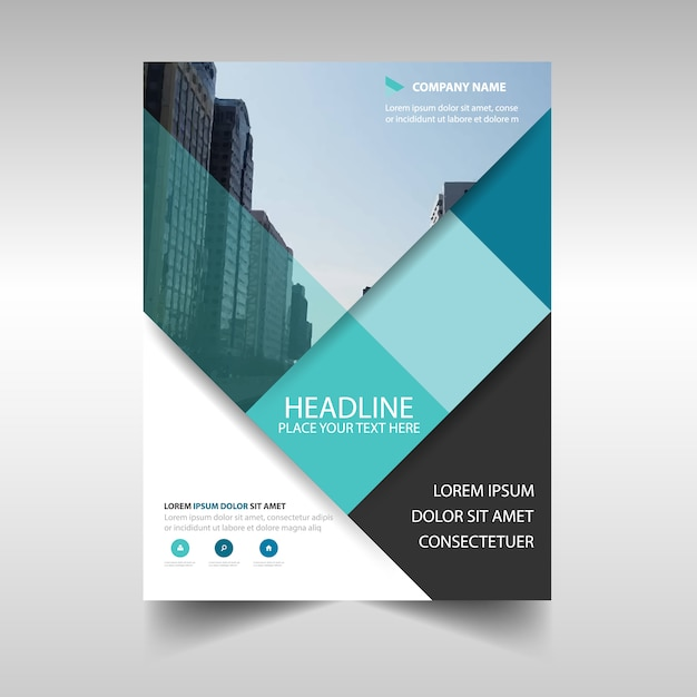 Light blue creative business brochure design Vector – Business Brochure Design