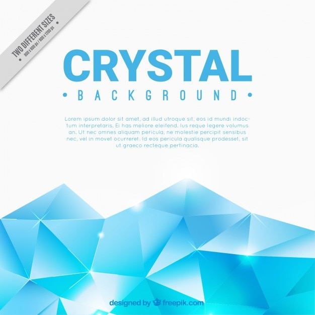 Light blue crystal background Free Vector