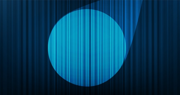 Light blue curtain background with stage light, hight quality and modern style. Premium Vector