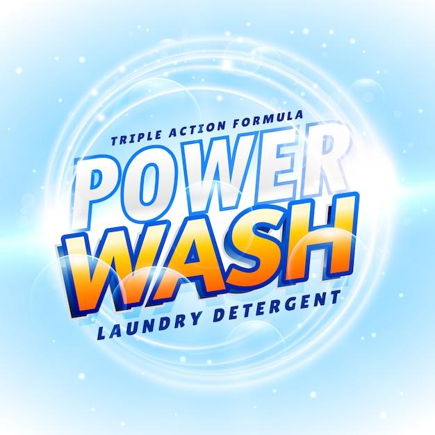 Light blue detergent template Free Vector