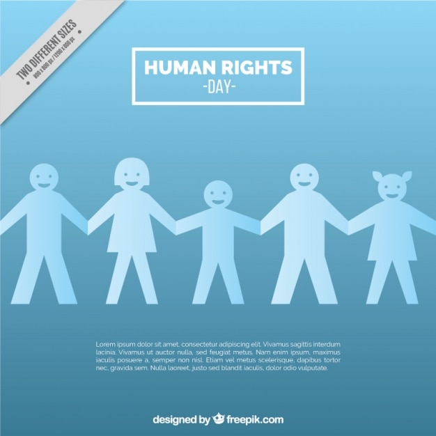 Light blue human rights day background