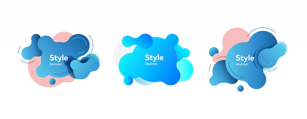 Light blue and pink liquid forms Free Vector