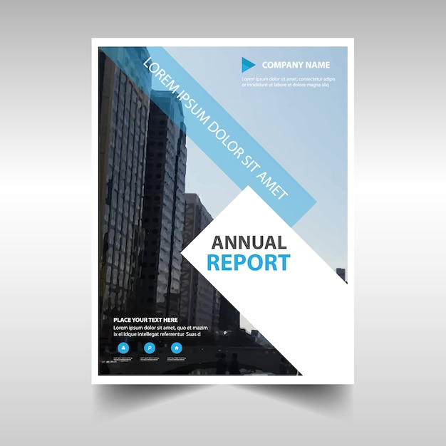 Light Blue Professional Annual Report Template Vector  Free Download