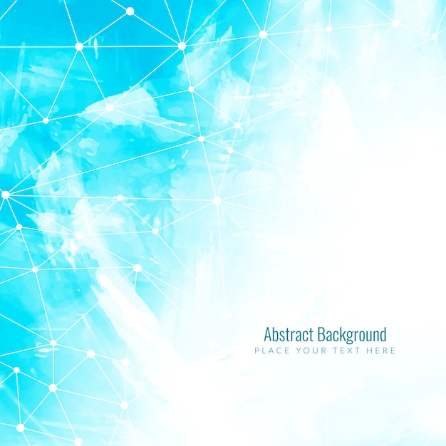 Light Blue Technological Polygonal Background Vector