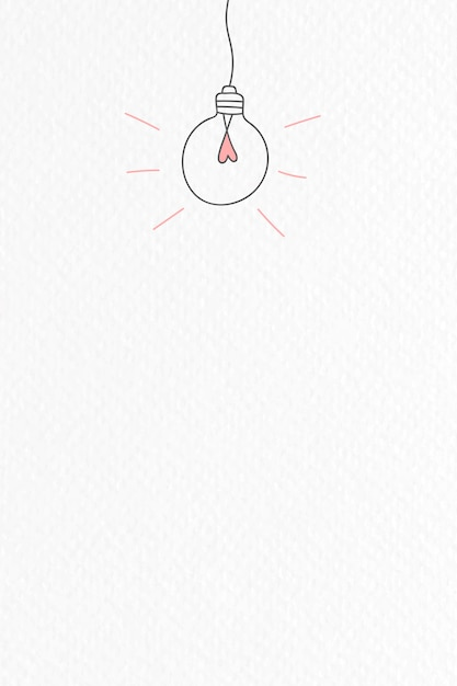 Light bulb doodle Free Vector