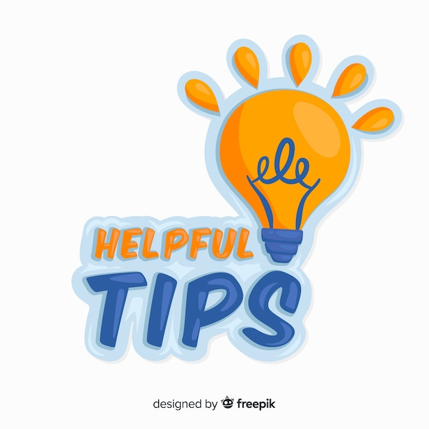 Light bulb helpful tip background Free Vector