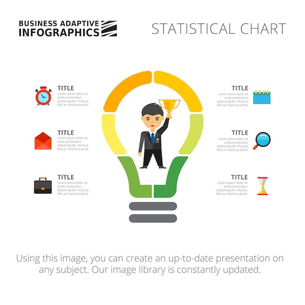 Light Bulb Infographic Diagram Template Vector Free Download