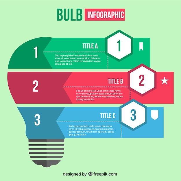 Light Bulb Infographic Template Vector
