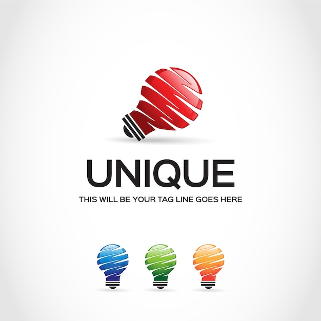light bulb logo design vector free download