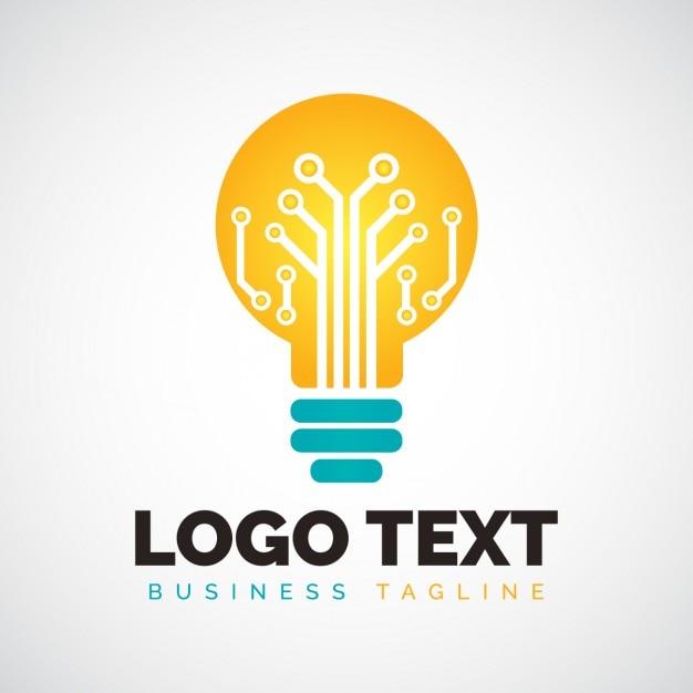 light bulb shape logo vector free download