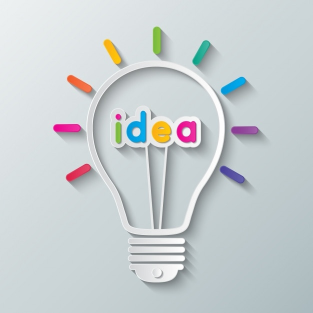 Http Www Freepik Com Free Vector Light Bulb With The Word Idea 958465 Htm