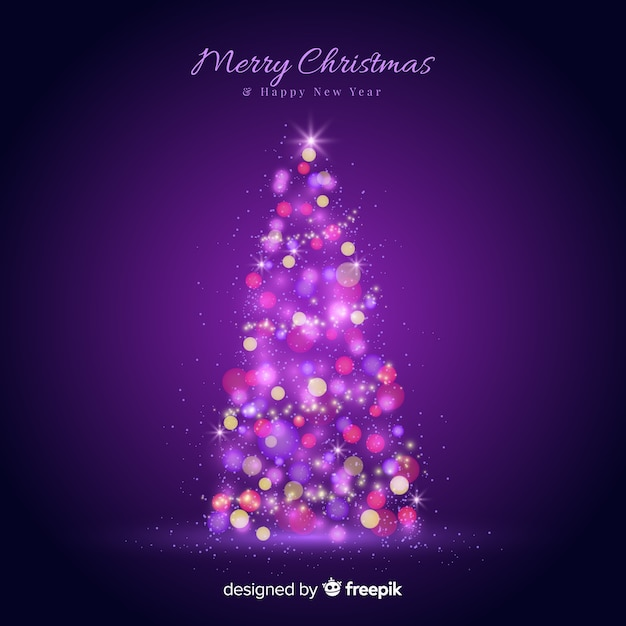 Light christmas tree Free Vector